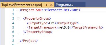 The contents of a csproj file in Visual Studio